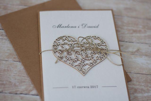 rustykalne zaproszenia na ślub