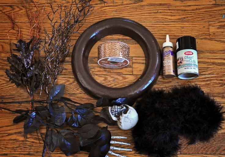 Spooky Halloween Wreath DIY | The Cheap Luxury Spooky Halloween Wreath DIY | developing. making. baking.