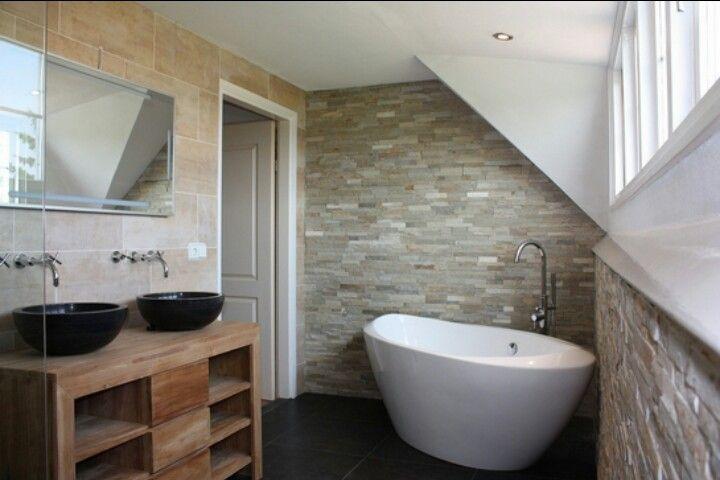 Badkamer Ideeen Natuursteen : Steenstrip badkamer Pinterest