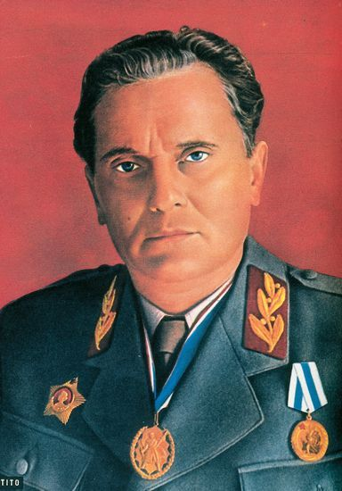 josip tito yugoslavia military highly edited photo