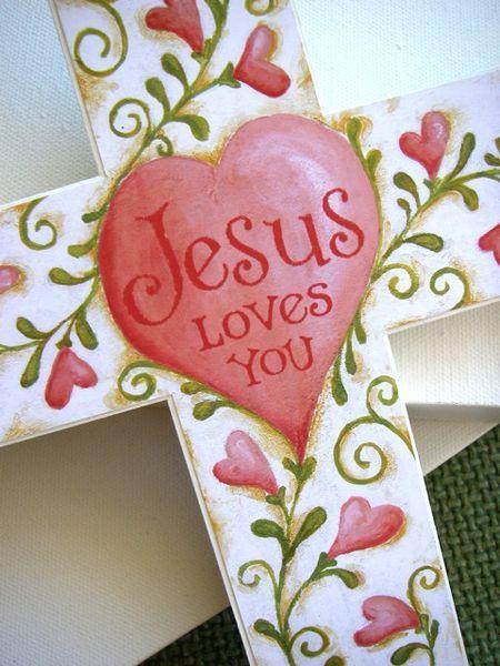 Jesus Loves You!  #Cross #Heart