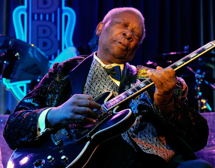 Riley B. King (September 16, 1925 – May 14, 2015), known by his stage name B.B. King, was an American blues singer, songwriter and guitarist.  Rolling Stone ranked King number 6 on its 2011 list of the 100 greatest guitarists of all time.