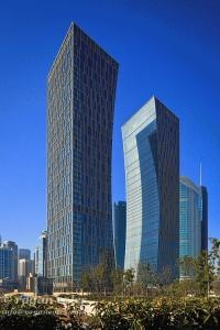 CITIC Pacific Group Headquarters Towers 中信大廈) Hong Kong Stock Exchange designed by  P Group