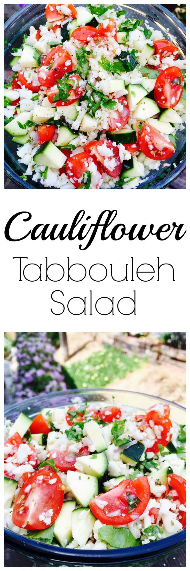 ... EASY grain-free take on Tabbouleh! Paleo, Gluten-Free, Raw, and