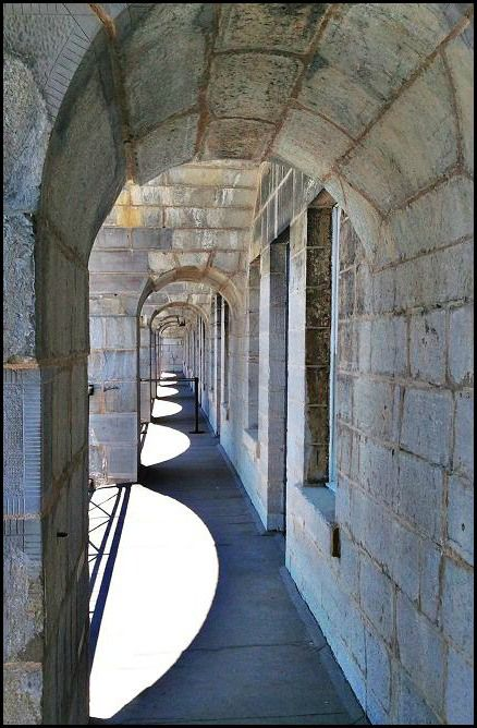 Arches/Shadow reflections at Fort Henry in Kingston, Ontario.