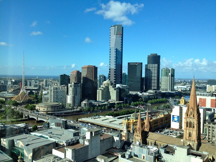 Melbourne on a sunny day, as seen from the beautiful Grand Hyatt