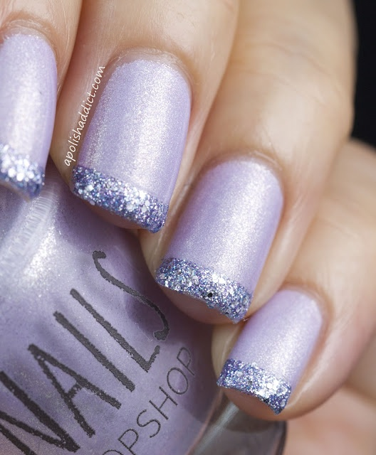 so beautiful! love the use of lilac & deep purple/plum. - Best 25+ Lilac Nails Design Ideas On Pinterest Lilac Nails