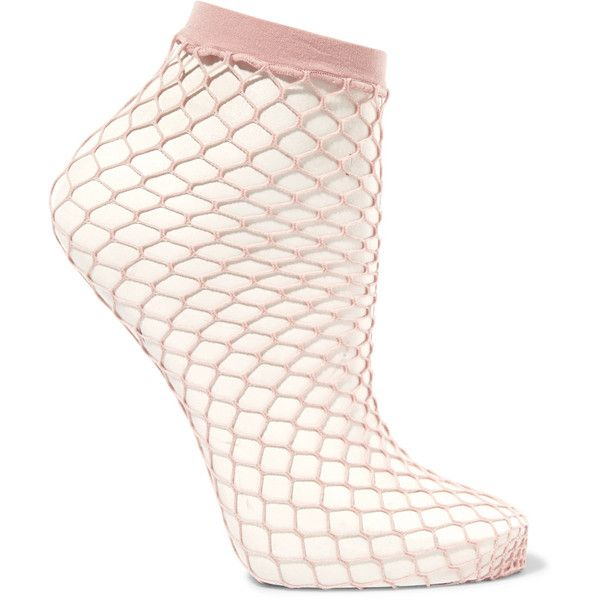 Falke Fishnet socks ($13) ❤ liked on Polyvore featuring intimates, hosiery, socks, pink, falke, falke hosiery, wide socks, patterned socks and pink socks