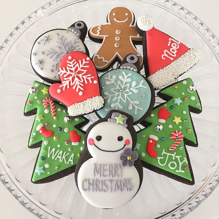 ワカナ's dish photo クリスマス アイシングクッキー | http://snapdish.co #SnapDish #クッキー #友達&家族でパーティ料理 #こどもが大好きな料理