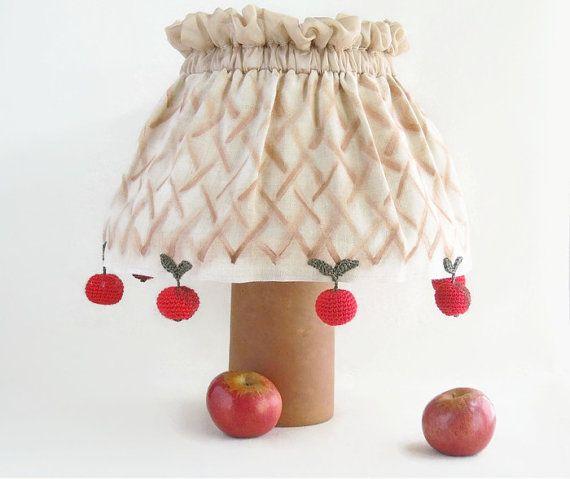 Abat-jour réglable housse, abat-jour en toile de jute fait à la main, foulards pommes, cadeau pour la maison, décoration de la maison