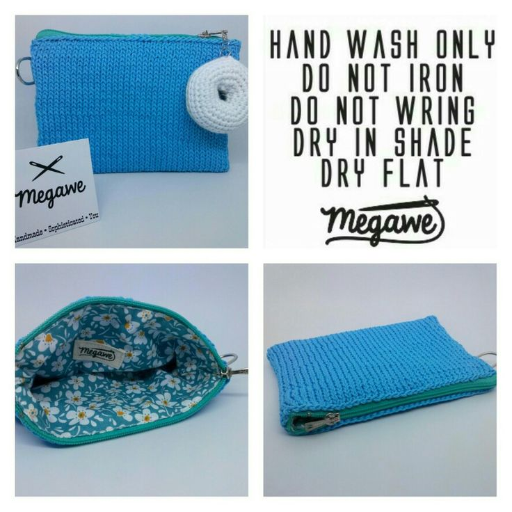 Love Blue • Simple Pouch • With Donut Charm • Made by order • Size : 15 x 13 cm • With Knitting Project • Color request bisa made by order loh 😆 • #megawe #megaweproject #craft #handmade #handcraft #knitting #knittingaddict #knittingideas #knittinglove #knittingproject #knittingofinstagram #colorideas #pouch #pouchseries