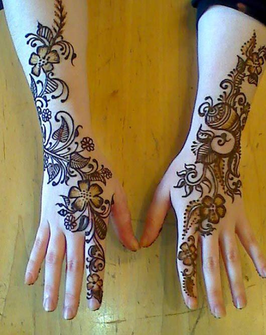 HD Mehndi Designs 2014: Henna Design Stencils For Hand Feet Arabic Beginners Kids Men Photos Images Picture Pics