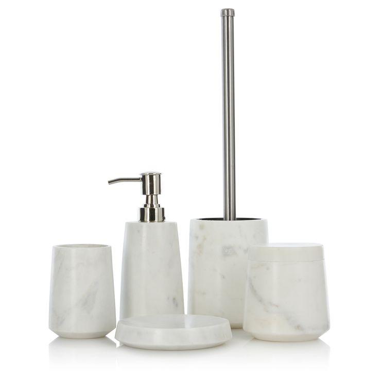 Marble bathroom accessories