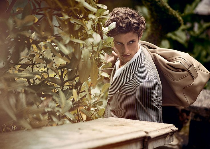 A striped jacket for a stylish getaway  #advcampaign #ss14 #canali1934