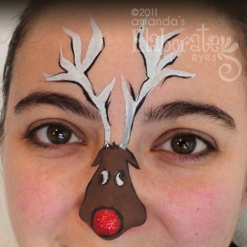 Winter Face Painting Amanda S Elaborate Eyes Body Pinterest And Paintings
