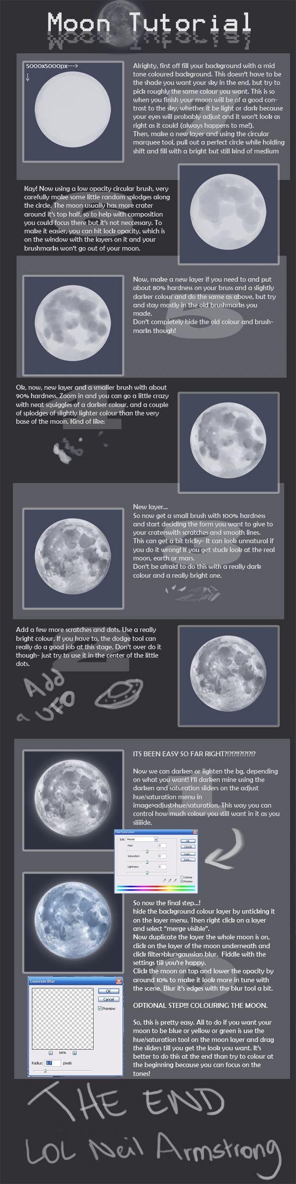 +Moon Tutorial+ by Spell.deviantart.com on @DeviantArt