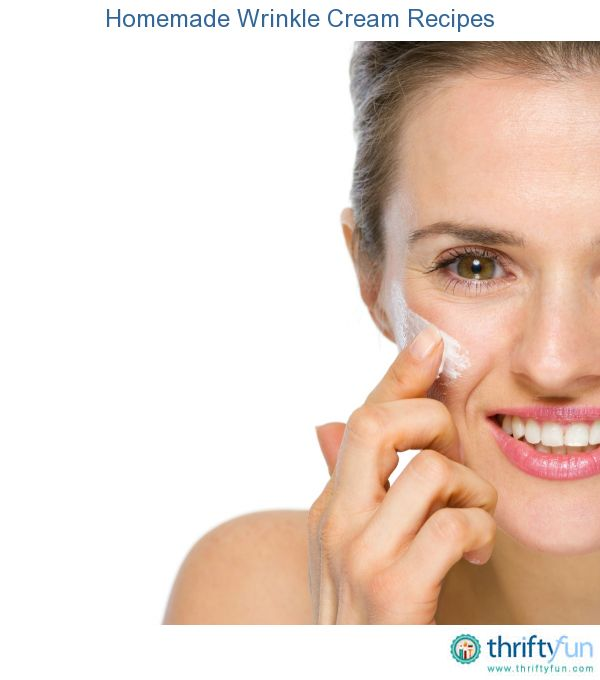This page contains recipes for homemade wrinkle cream. Age, life style, and sun are some of the factors that can produce wrinkles. You can use natural ingredients, some from your own kitchen, to make your own wrinkle cream to combat these forces of nature.