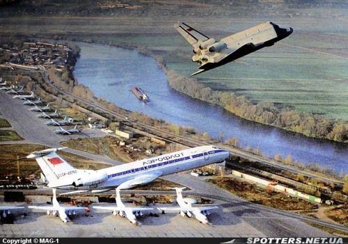Soviet Space Shuttle Buran & Tupolev 134