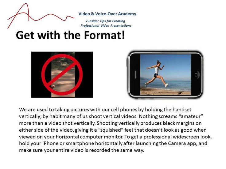 """Format your videos like a pro -- avoid """"vertical video""""."""