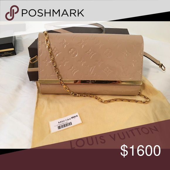 Authentic Louis Vuition purse 99% new ! 99% new, wear tiwce ! Come with box , dust bag, card and bill! Louis Vuitton Bags Clutches & Wristlets