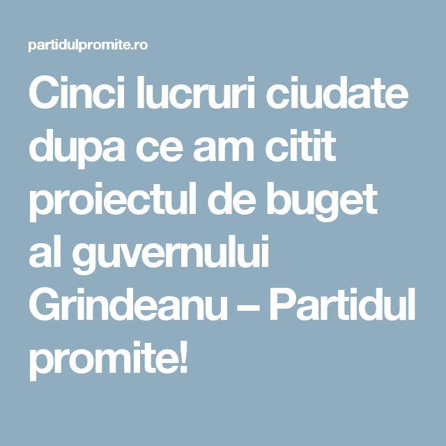 Cinci lucruri ciudate dupa ce am citit proiectul de buget al guvernului Grindeanu – Partidul promite!