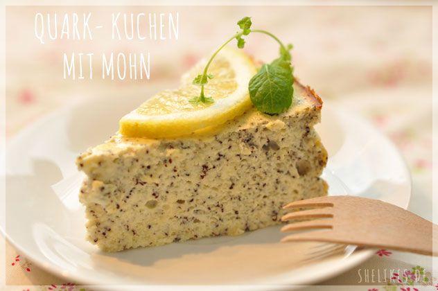 SHELIKES - Quark-Mohn Kuchen (ohne Mehl, zucker- und fettarm)