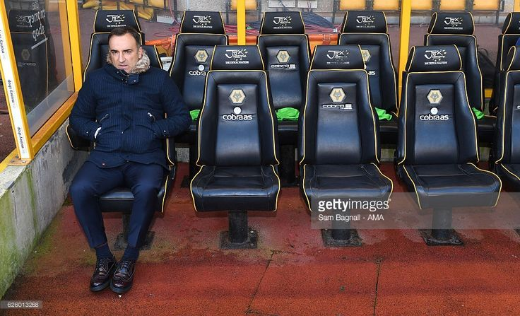 Carlos Carvalhal manager / head coach of Sheffield Wednesday during the Sky Bet Championship match between Wolverhampton Wanderers and Sheffield Wednesday at Molineux on November 26, 2016 in Wolverhampton, England.