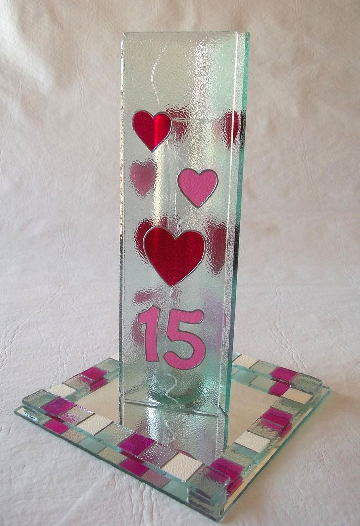 Florero 15 a os centros de mesa en vidrio pintado pinterest - Centros de mesa cristal ...