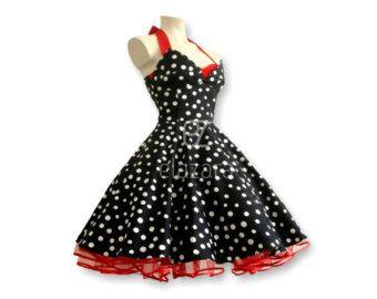 Vestido de novia falda, vestido de boda, vestido de Rockabilly, de los años 50 Vestido de fiesta, vestido, vestido de Rockabilly, look retro
