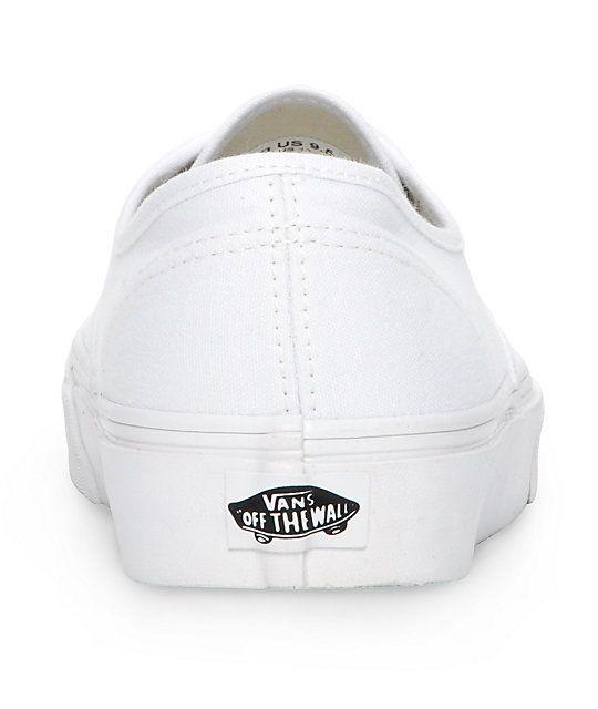 Vans Authentic White Skate Shoes (Mens)