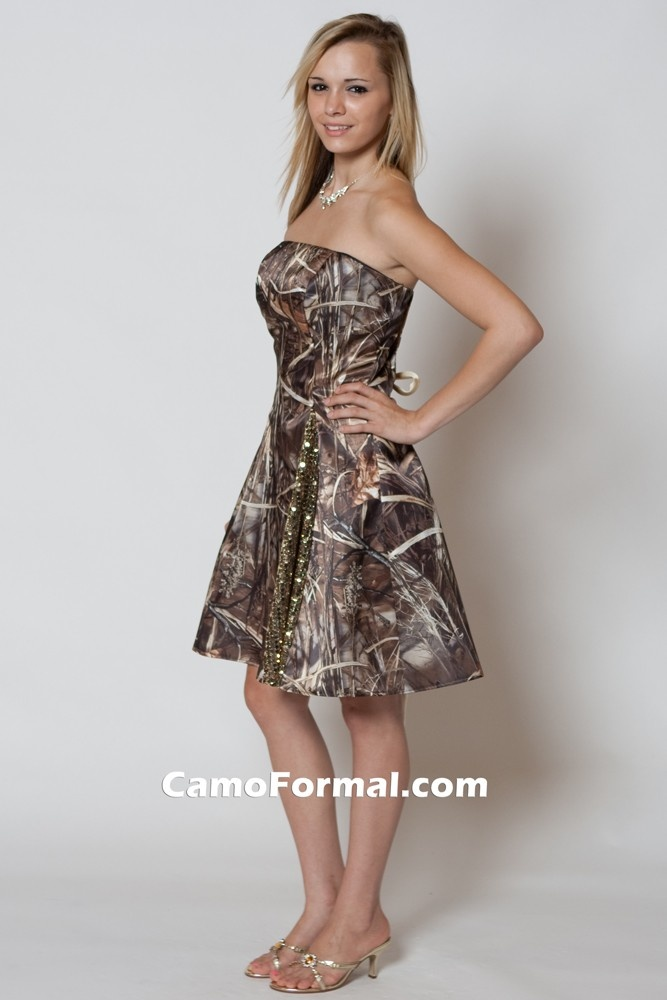 kati (maid of honor) will be exactly the same but the dress will be pink with a camo belt