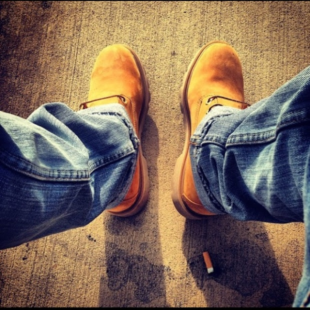 Timberland Boots, Levi's Jeans. Just that type of day when you dont want to wear kicks