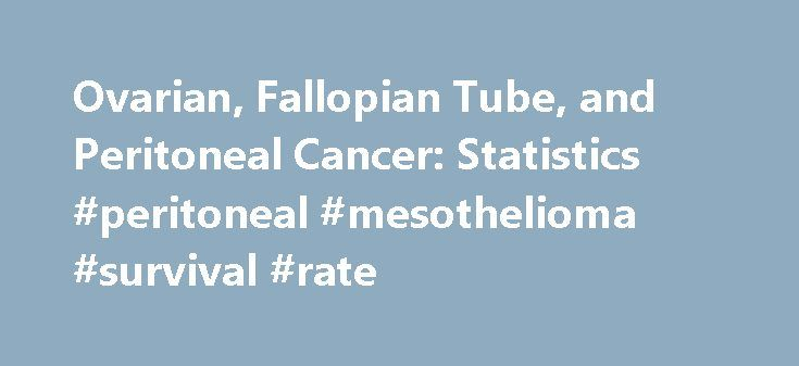 Ovarian, Fallopian Tube, and Peritoneal Cancer: Statistics #peritoneal #mesothelioma #survival #rate http://atlanta.remmont.com/ovarian-fallopian-tube-and-peritoneal-cancer-statistics-peritoneal-mesothelioma-survival-rate/  ON THIS PAGE: You will find information about the number of women who are diagnosed with ovarian, fallopian tube, and peritoneal cancer each year. You will read general information about surviving these diseases. Remember, survival rates depend on several factors. Use the…