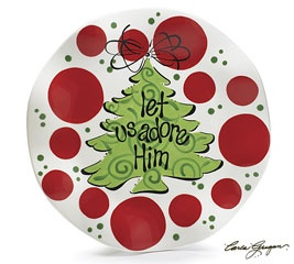Please adore him hand-painted ceramic plate. Christmas ...  sc 1 st  Pinterest & 274 best Christmas Ideas images on Pinterest | Christmas deco ...