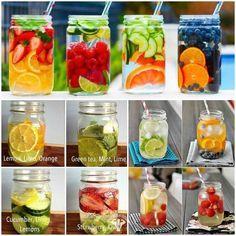 Acqua detox, aromatizzata con frutta, verdura e aromi