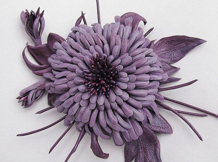 цветы из кожи как делать и фото помощью этой конструкции