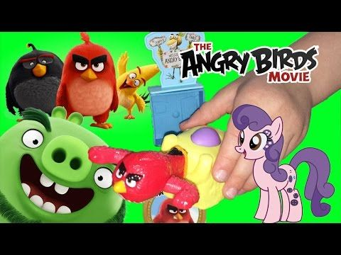 THE ANGRY BIRDS MOVIE Happy Meal Toy Smashing Blocks and Buttonbelle - YouTube