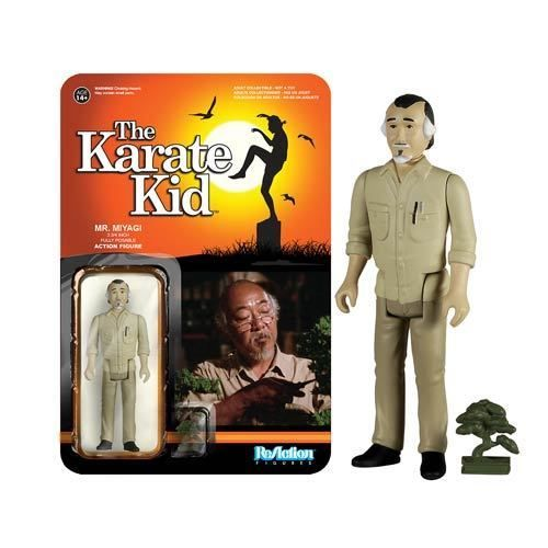 Karate Kid Mr. Miyagi ReAction 3 3/4-Inch Retro Action Figure #Funko