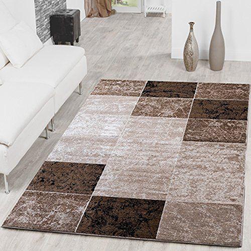 tapis bon march design moderne tapis salon marron beige carreaux crme top prix 80