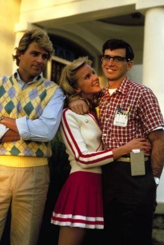 Still of Robert Carradine, Ted McGinley and Julia Montgomery in Revenge of the Nerds