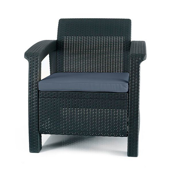 Berard All Weather Outdoor Patio Chair With Cushion Outdoor Patio Chairs Lounge Chair Outdoor Plastic Patio Furniture