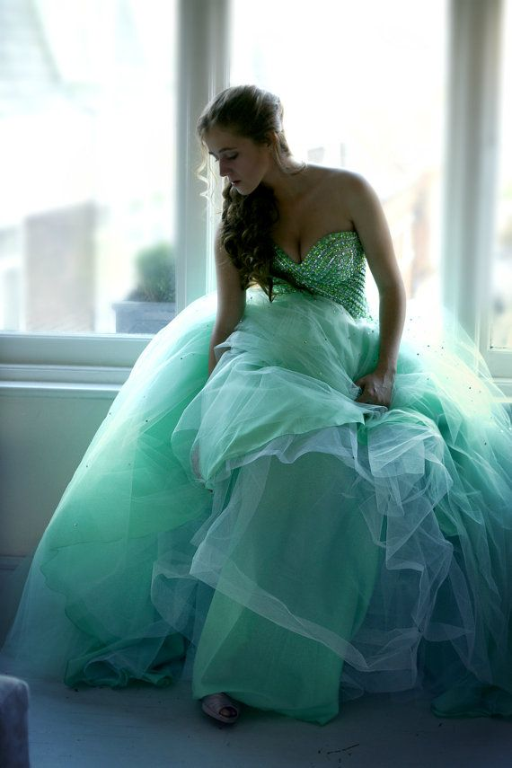 mint green tulle prom dress skirt petticoat by mintlondonboutique  jαɢlαdy