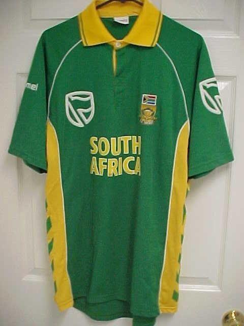 pretty nice 65e89 f3168 SOUTH AFRICA Cricket Team Men Green Yellow Short Sleeve Polo Shirt L Hummel   Hummel  PoloShirt