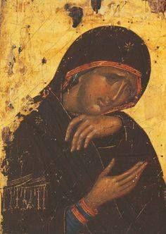 Virgin Mary, Meteora, Greece