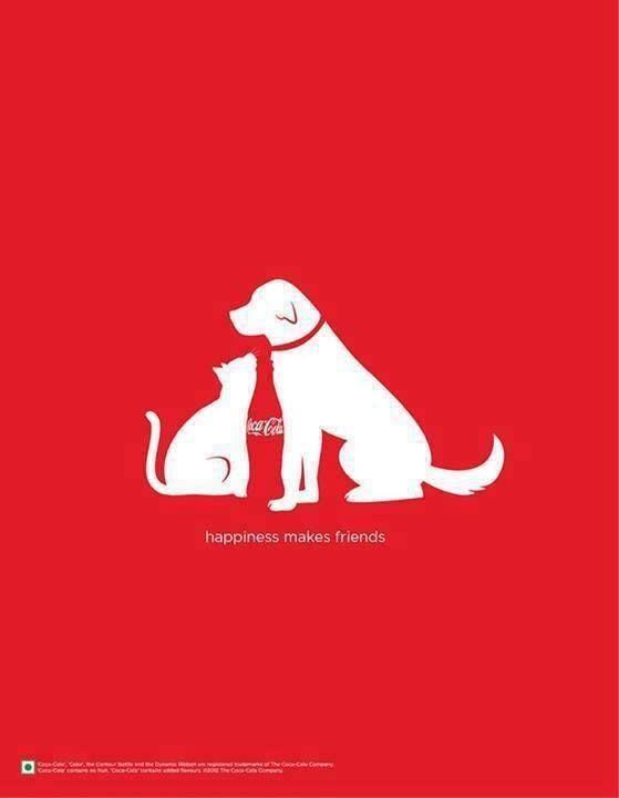 Coca Cola cat & dog silhouettes