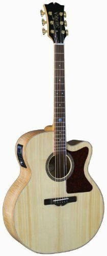 SJS98CE Tahoe Series Jumbo Acoustic Electric Guitar by Sierra Guitars - Natural Finish >>> Want additional info? Click on the image.