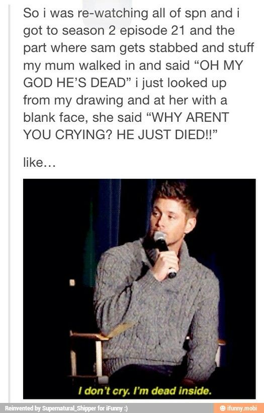 tbh i still cry at that moment...it gets me every time! especially deans speech