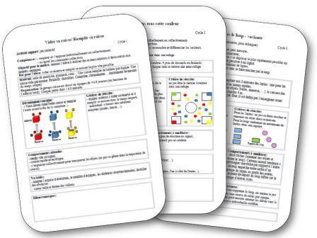 Fiches de préparation de jeux collectifs pour travailler la motricité à l'école maternelle. Jeux, sport, enfants, maternelle