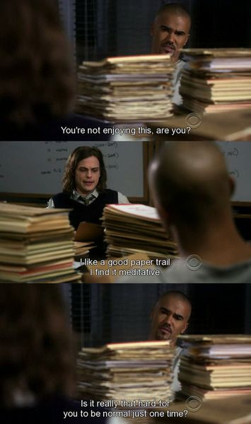 A classic scene with Morgan and Reid. They have had quite a few of memorable scenes on the show. CM addicts and junkies, which is your favotite Morgan and Reid scene together?
