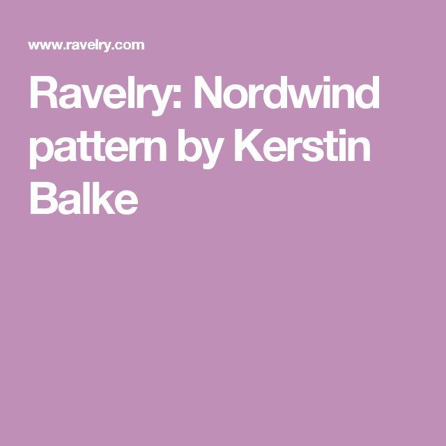 Ravelry: Nordwind pattern by Kerstin Balke